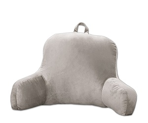 sweet home collection microfiber bed ultra plush brushed rest pillow gray