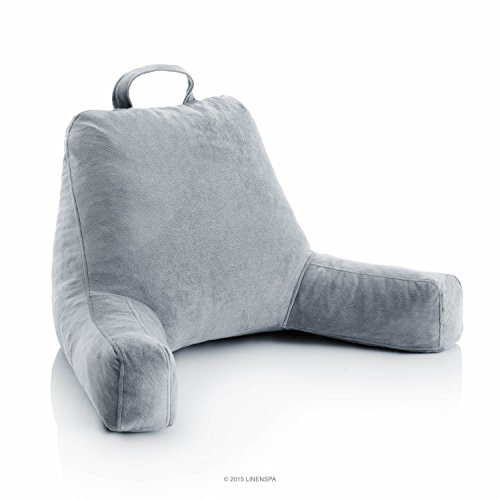 Superior The Second On The List Of The Best Bed Chair Pillows, Is The Linenspa Foam  Reading Pillow. The Plush Velour Covered Armchair Pillow Is Filled With  Memory ...